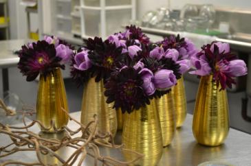Purple Liz Centerpieces