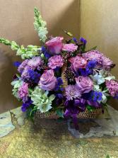 Purple Love  Basket arrangement