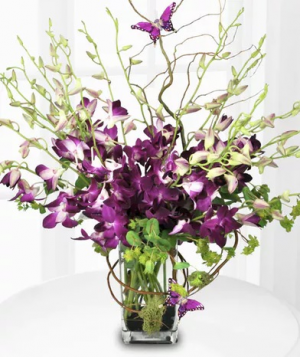 Purple Majesty Arrangement in Croton On Hudson, NY | Cooke's Little Shoppe Of Flowers