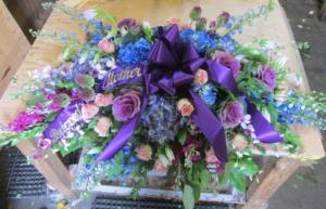 PURPLE MAJESTY  Funeral Flowers in Seaford, NY | THE FLOWER BARN