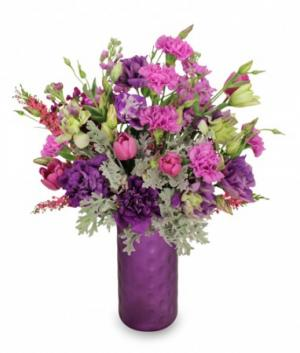 Celestial Purple  Arrangement in San Dimas, CA | O'MALLEY'S FLOWERS OF SAN DIMAS