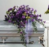 Purple Monochromatic Half Couch Casket SF35-11