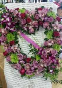 Purple Open Heart Funeral