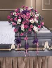 Purple or Lavendar Roses Casket Spray