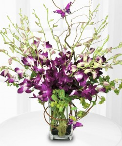 Purple Orchid Bouquet by Enchanted Florist