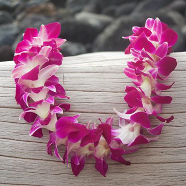 Purple Orchid Graduationn Lei