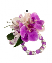 Purple Orchid Jelly Wristlet Corsage