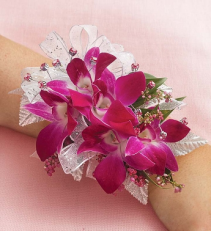 Purple Orchid Wrist Corsage Purple Orchid Wrist Corsage