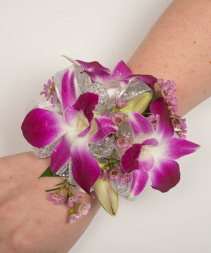 Purple Orchids Corsage