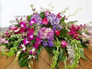 Purple orchids spray