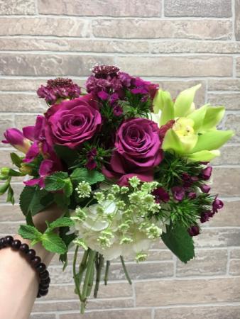 W  Purple Paradise Bouquet Bridal Bouquet