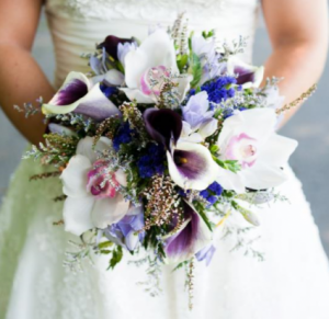 Purple Paradise Bridal Bouquet in Fredericton, NB | GROWER DIRECT FLOWERS LTD