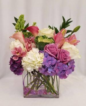 Pink Passion Arrangement in Boca Raton, FL | Flowers of Boca