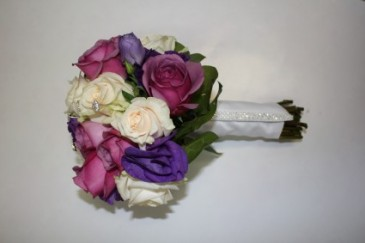 purple passion bridal bouquet