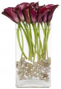 Pink Pion Calla Lily Vase