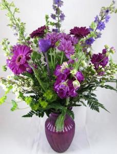 Purple Passion Fitzgerald Flowers Custom Design