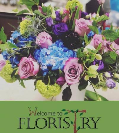 Purple Passion Floral Arrangment
