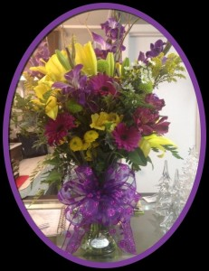 Purple Passion Flower Arrangement in Archer City, TX | MillWright Market & Flowers