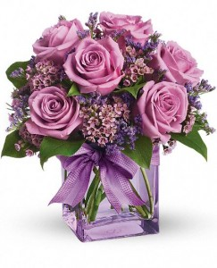 Passionate Purple Roses Fresh Arrangement in Storrs, CT | THE FLOWER POT