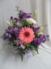 Purple Passion Fresh Mixed Vase Arrangement