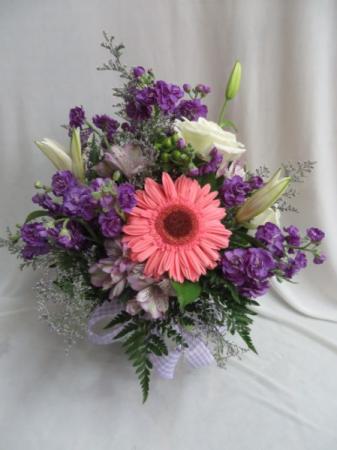 Purple Passion Fresh Mixed Vase Arrangement