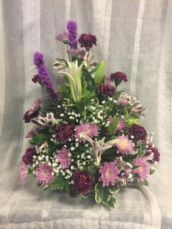 Purple Passion Funeral Arrangement