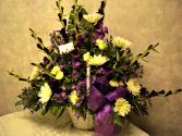 Purple passion funeral basket