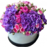 Purple passion Hydrangea And Rose Hat box.