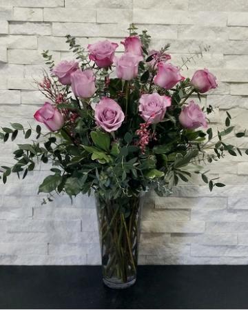 Purple Passion Purple Dozen Roses