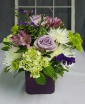 Purple Passion  Short Cube Arrangement