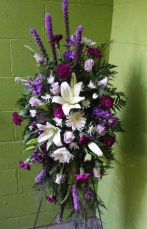 Purple Passion Standing Spray   in Ozone Park, NY | Heavenly Florist