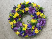Purple Passion Standing spray wreath