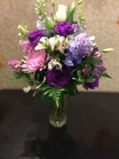 Purple Passion Vase Arrangement