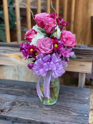 Purple Passion `Vase Arrangement  in Gordon, TX | Rafter JM Flowers, Gifts and More
