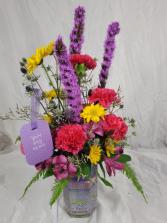 Purple Passion Vase Arrangement