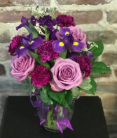 Purple Passion Vased Arrangement