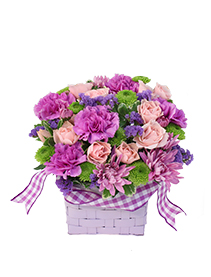 Purple Patchwork Basket