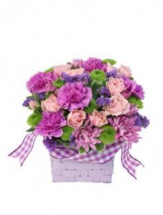 Purple Patchwork Basket