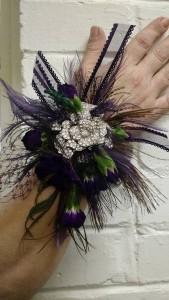 Purple Peacock Wristlet