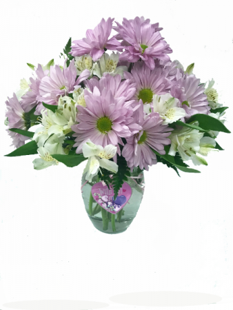 Purple Pedals Bouquet