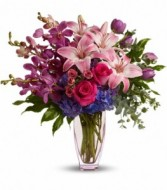 Purple Perfection Bouquet Vase Arrangement