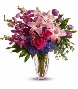 Purple Perfection Bouquet Vase Arrangement