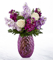 Purple Pineapple   Vase Arrangement