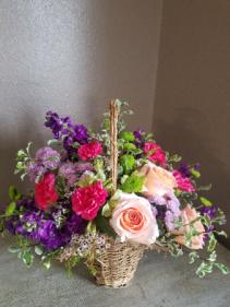 Purple, pink, and green Fresh arrangement