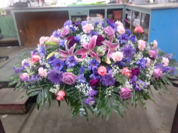 Purple  pink casket P _133