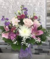 Purple & Pink Delight Bouquet  Mixed Bouquet No Vase