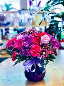 Purple Plum Floral Arrangement