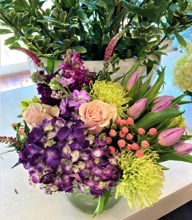 Purple Plus Vase Arrangement
