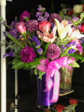 Purple Plush Floral Arrangement