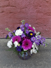 Purple Power Vase arrangement